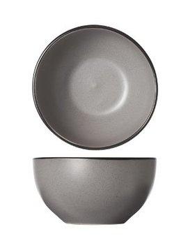 CT Speckle Grey Bowl D14xh7.2cm Bordo nero
