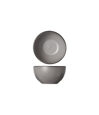Cosy & Trendy Speckle Gray Bowl D14xh7.2cm black Border set of 6