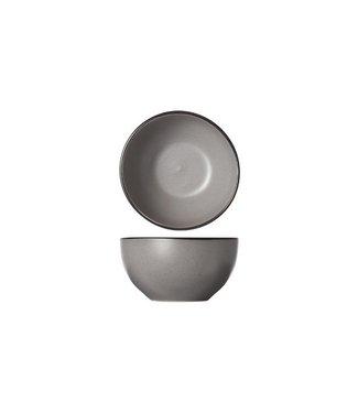 Cosy & Trendy Speckle-Grey - Kom - D14xh7.2cm - Zwarte Boord - (set van 6)-