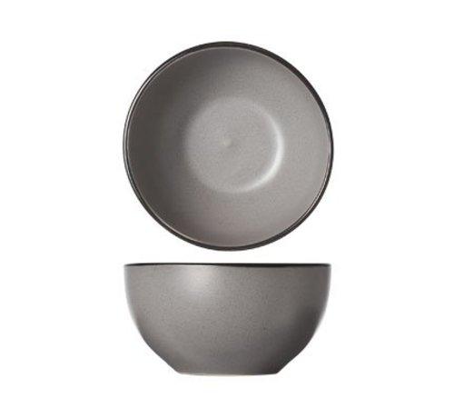 CT Speckle Grey Bowl D14xh7.2cm schwarz Border 6er Set