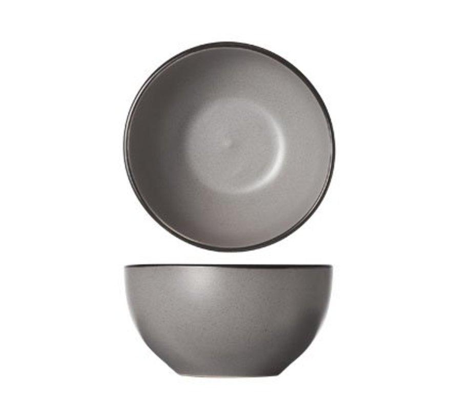 Speckle Grey Kommetje D14xh7.2cm zwarte Boord