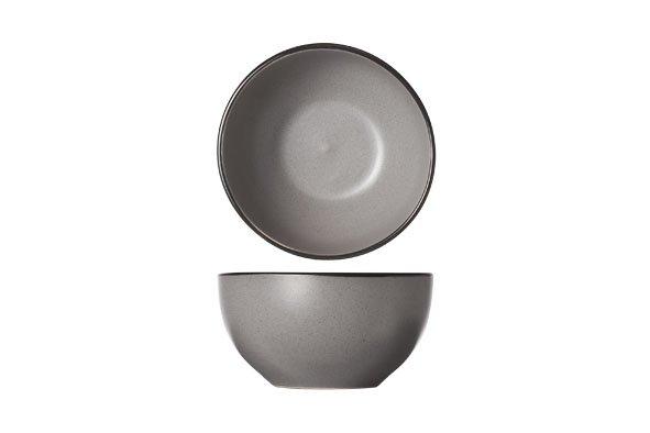 CT Speckle Grey Kommetje D14xh7.2cm zwarte Boord
