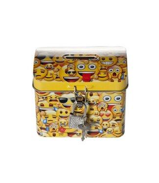 Cosy & Trendy Xs Schatkistje Smileys 9x5.7xh7.6cmmet Sleutel - Emoji Design A