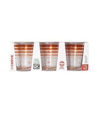 Cerve Glass Ice Orange 32.5cl Set 3co