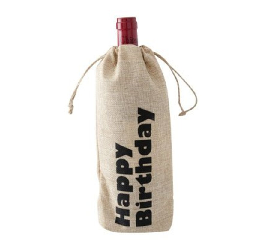 Wine Bag Happy Birthday 15xh30cm (12er Set)