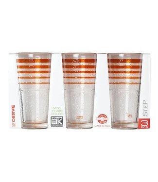 Cerve Ice Okj Orange Longdrink Glass Set3co