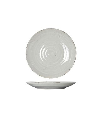 Cosy & Trendy Avalon - Dinner plate - Gray - D25cm - Porcelain - (set of 6).