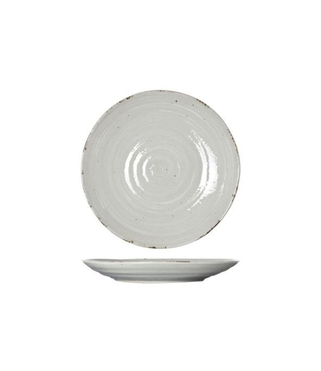Cosy & Trendy Avalon - Dinerbord - Grijs - D25cm - Porselein - (set van 6)