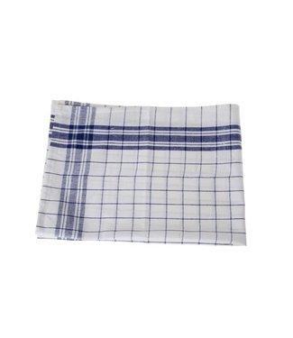 Cosy & Trendy For Professionals Keukenhanddoek Set6 Grove Ruit Blauw-wit100 Katoen 70x50cm-70gr M² (set van 6)