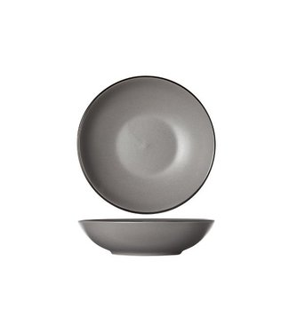 Cosy & Trendy Speckle Grey Soup Plate D20xh5.3cmblack Rim (set of 6)
