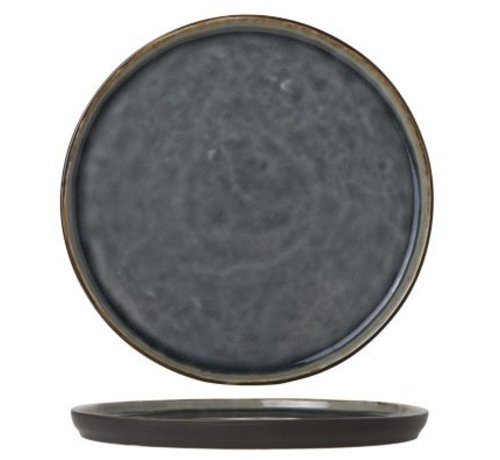 Cosy & Trendy Laguna Blue-grey Dessertbord 21.5cm Rond (set van 6)