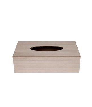 Cosy & Trendy Storage box Tissues Gls Wood 26x14.5x7.5cm (set of 6)