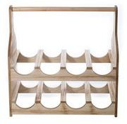 Cosy & Trendy Wine Rack Natural Wood 39,5x20xh40cmin Bubble Bag (2er Set)