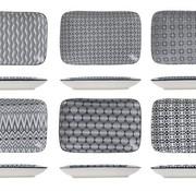 Cosy & Trendy Nikko Black Dish 26x17.5cm set of 6