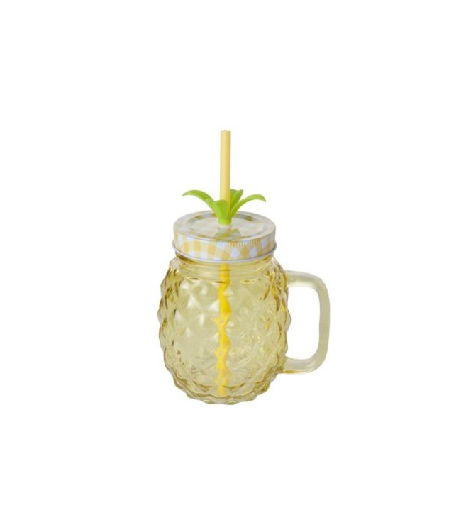 Cosy & Trendy Ananas Bokaal Geel 12x9xh21cm