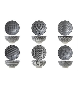 Cosy & Trendy Nikko-Black - Bowl - D17.5xh8.2cm - 75cl - (Set of 6)