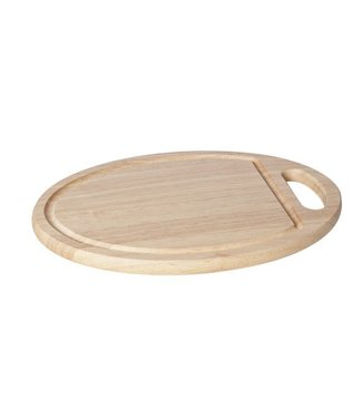 Cosy & Trendy Cutting Board Wood Oval 29x20x1,5cmwith Hole Handle