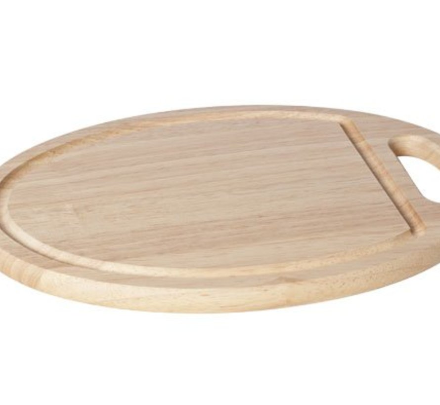 Cutting Board Wood Oval 29x20x1,5cmwith Hole Handle