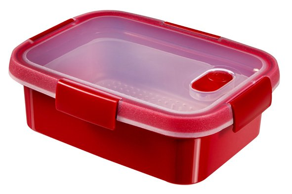 Curver Smart Microwave Defrost Rh 1.0l Rood20x15x7cm - Steaming Tray (set van 6)