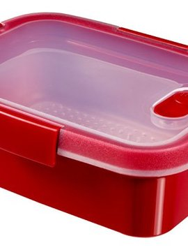 Curver Smart Microwave Steamer Rh 1.2l Rood20x15x9cm - Steaming Tray