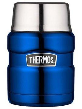 Thermos King Food Jar  Metalic Blue 470ml9x9xh14.5cm