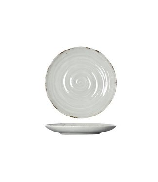 Cosy & Trendy Avalon - Dessert plate - Gray - D18.5xh2.5cm - Ceramic - (set of 6).
