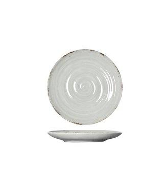 Cosy & Trendy Avalon - Dessertbord - Grijs - D18.5xh2.5cm - Keramiek - (set van 6).