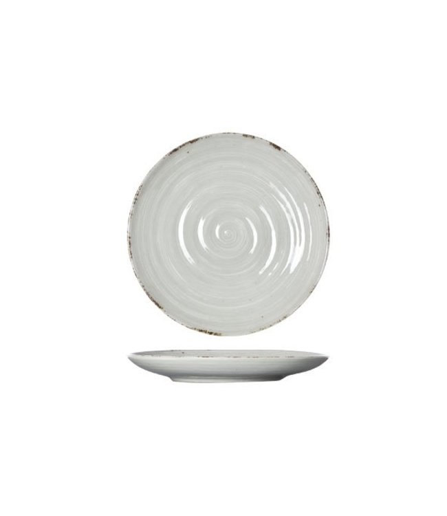 Cosy & Trendy Avalon - Dessertbord - Grijs - D18.5xh2.5cm - Keramiek - (set van 6)