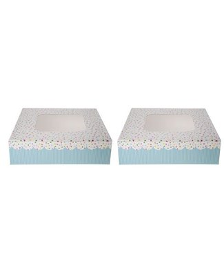 Cosy & Trendy Cake Box S2 Square 23x23xh8cm Dotted