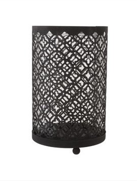 Cosy @ Home Hurricane Maroc Metal Black 10x10x16cm