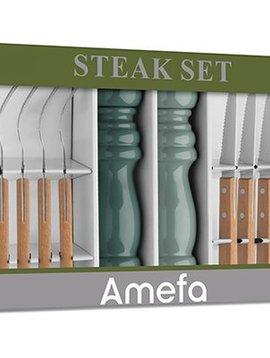 Amefa Retail Promo Bbq-steakset 14-dlg Groengiftbox