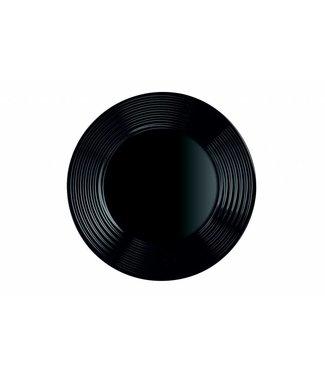 Luminarc Harena Servies - Borden - 25cm - Zwart - Glas - (Set van 6)