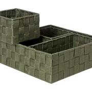 Cosy & Trendy Expert Mand Kaki Set4 Nylon28x28xh10-26x13xh9-13x13xh9-13x13xh9