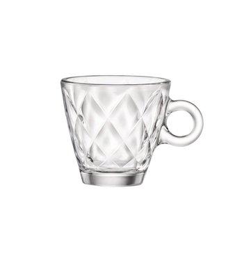 Bormioli Kaleido Espresso Cup And Saucer 10 Cl