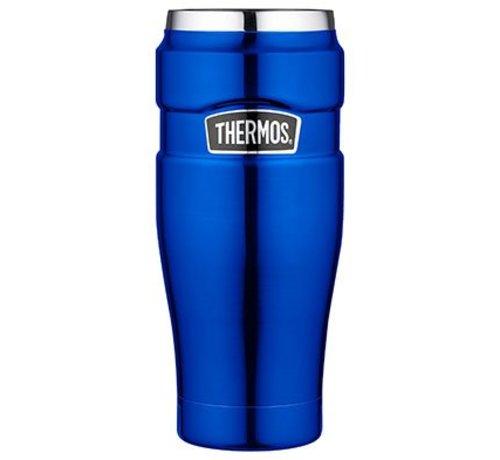 Thermos King Tumbler Mug Metalic Blauw 470ml8.5x8.5xh20cm