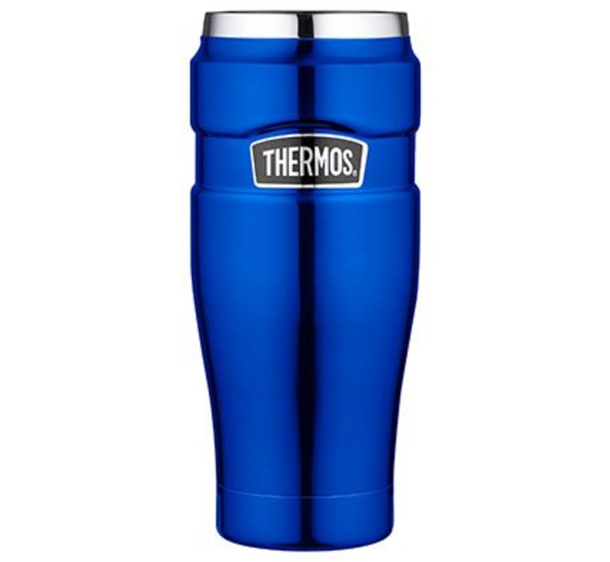 King Tumbler Mug Metalic Blauw 470ml8.5x8.5xh20cm