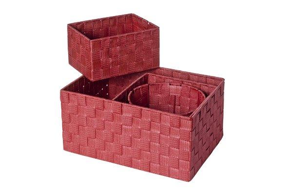 Cosy & Trendy Expert Mand Rood Set4 Nylon 34.5x24.5x17-20x20xh16-20x15xh11-d19xh15 (set van 6)