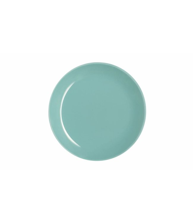 Luminarc Arty Soft Servies - Dessert Borden - Blauw - 20cm - Glas - (Set van 6)