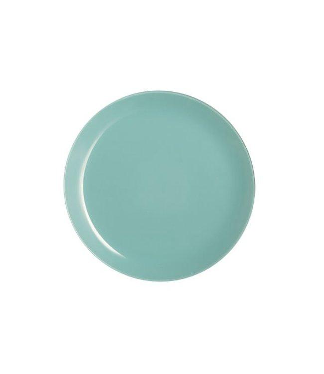 Luminarc Arty-Soft - Dinerbord - Blauw - 26cm - Glas - (Set van 6)