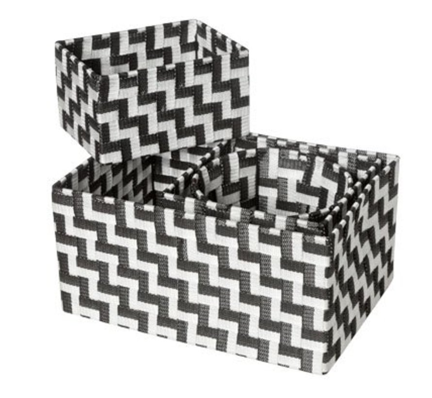Expert Mand Zwart-wit Set4 Nylon 34.5x245x17-20x20xh16-20x15xh11-d19xh15