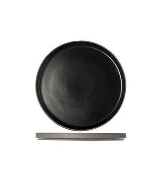 Cosy & Trendy 1350 Black Dessert Plate D22xh2cm  - Ceramic - (Set of 6)