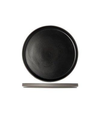 Cosy & Trendy 1350 Zwart Dessert Bord - Porselein -  D22xh2cm (Set van 6)