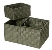 Cosy & Trendy Expert Mand Kaki Set4 Nylon 34.5x245x17-20x20xh16-20x15xh11-d19xh15 (set van 6)