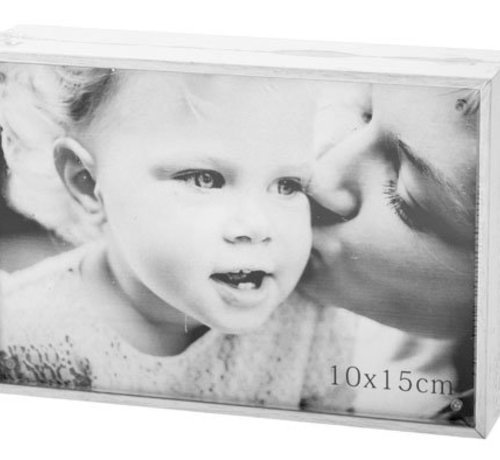 Cosy @ Home Cube Bilderrahmen White Holz 11x16x4cmfoto 15x10cm