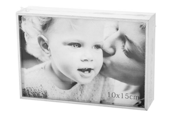 Cosy @ Home Cube Fotokader White Hout 11x16xh4cmfoto 15x10cm