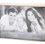 Cosy @ Home Cube Bilderrahmen Natur Holz 13.5x18.5x4foto 13x18cm