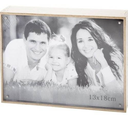 Cosy @ Home Cube Photoframe Nature Wood 13.5x18.5xh4photo 13x18cm