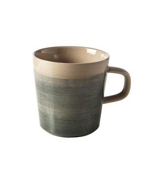 Cosy & Trendy Destino - Green - Cup - D9xh9.5cm - 38cl - Ceramic - (set of 6)