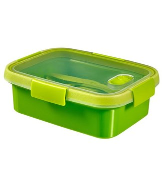 Curver Smart To Go - Lunch box - cutlery - 1.0 Liter - Green - 20x15x7cm - (set of 6)
