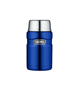 Thermos King Voedseldrager Metalic Blauw 710ml9x9xh18.5cm